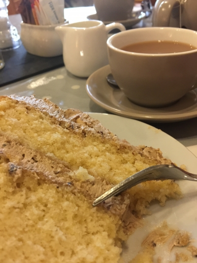 Tea and cake at Alder Carr Farm